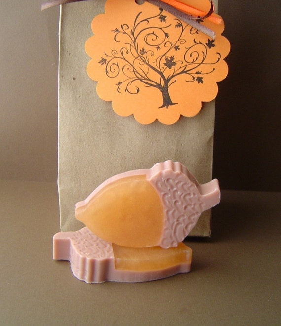 Reserved Rachael-1 Autumn Acorn Gift Set - Pumpkin Pie Scented  Acorn Gift Set , 1 Sparking Cider Acorn Set