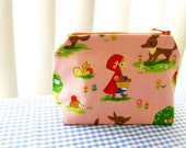 Le Petit Pouch -  I Love Little Red Riding Hood Series - Pink