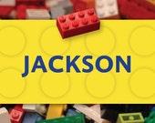 Building Block Treat Bag Labels