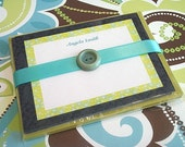 Printable Invitation/Notecards Black and Green