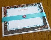 Printable Invitation/Notecards Brown Flower