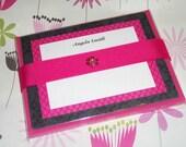 Printable Invitations/Notecards-Black, Pink, Dot