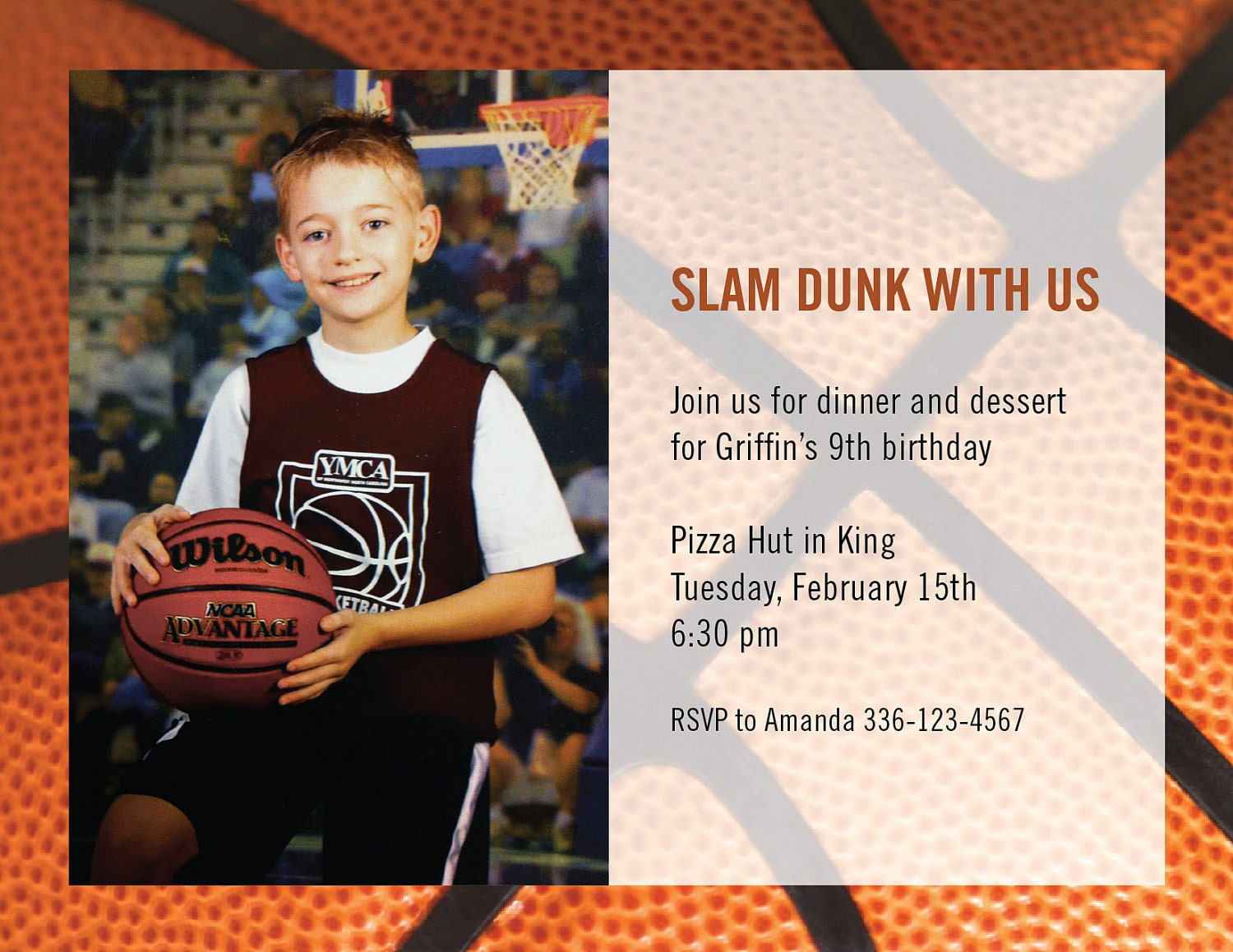 zoom - Basketball Party Invitations