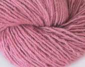 Dusty Rose Alpaca Yarn Hand Dyed 220yd 6oz worsted weight 4ply pink