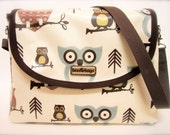 "iSacha Purse - designed to carry your iPad in style - ""Hooty"" owl print"