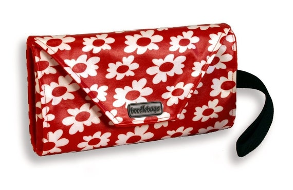 Red Daisy - Baby Boodle II - Diaper Changing Kit - Travel - Great Baby Shower Gift