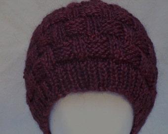 PATTERN Knit Woven Weave Cap/Hat