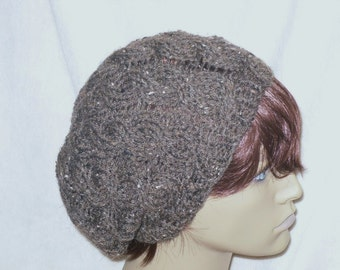 PATTERN - Slouchy Cable Urban Cap/Hat
