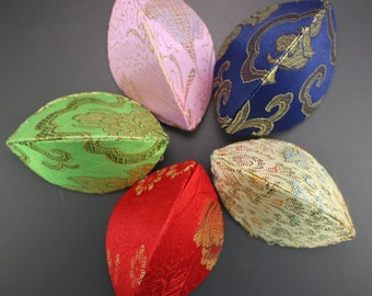 Multicolor Satin Jewelry/Gift Pinch Boxes, 4 Pieces