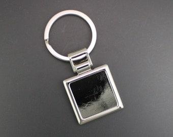 Square Key Ring Key Fob Finding, 5 Pieces