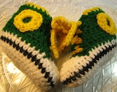 Team Colors Sports Baby Booties Crocheted High Tops