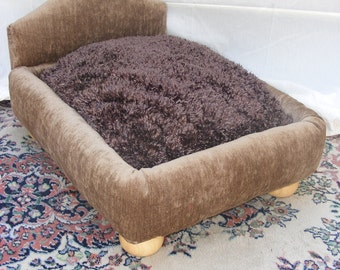 Luxury Dog Bed  This bed is well built and beautifully upholstered.