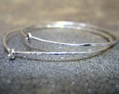 Sterling Silver Simply Classic Hoop Earrings - 1.25 Inch Diameter - Handmade Artisan Jewellery - Designed by A Second Time