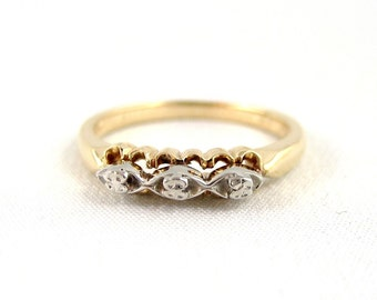Vintage Wedding Band - 14K/18K Gold - Circa 1960's - Retro Wedding Ring - Vintage Jewellery from A Second Time