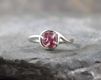 Red Spinel Ring - Uncut Red Spinel Ring - Raw Red Spinel Gemstone - Uncut Rough Gemstone Rings - Rustic Jewellery