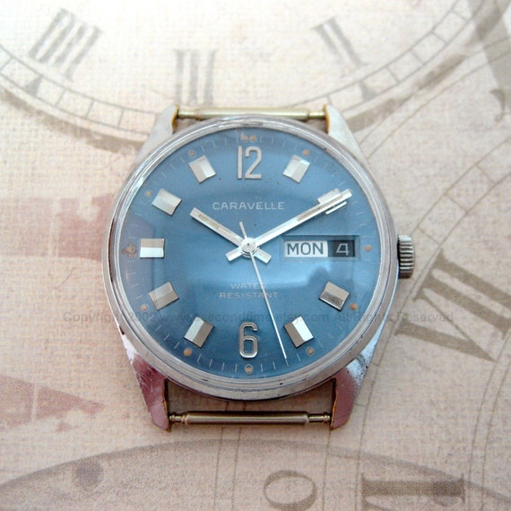 Vintage Caravelle by Bulova 17 Jewel Swiss Made Watch - FREE Shipping to the USA and Canada