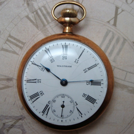 Vintage Waltham 7 Jewel Pocket Watch Manufactured in 1886 - FREE Shipping to the USA and Canada