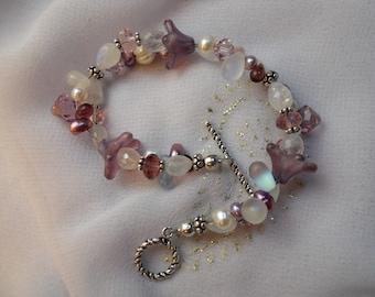 Purple Petals Bracelet
