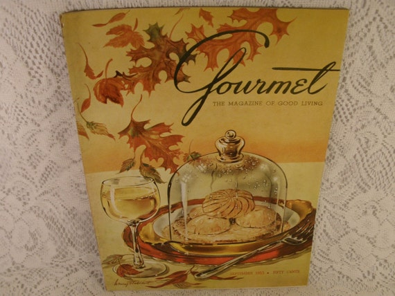 Vintage GOURMET The Magazine of Good Living - September 1953