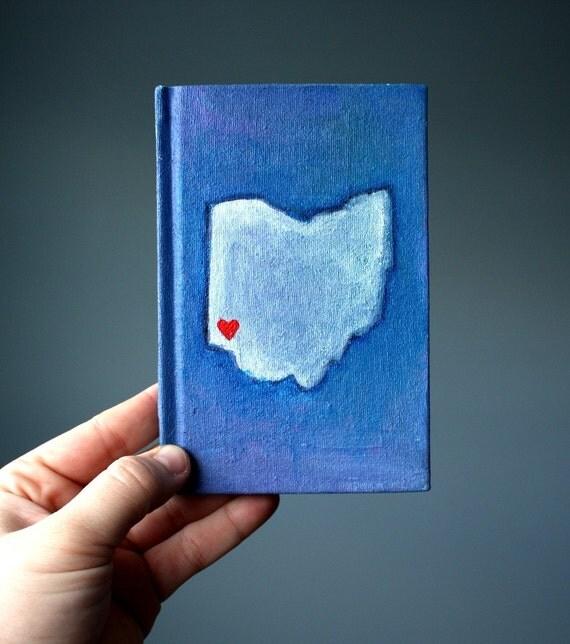 Cincinnati Love Handpainted Journal/Sketchbook