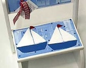Personalized Step Stool -  Sailboat