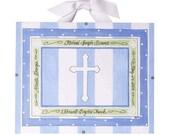 Baptism Gift for Boys - Personalized Christening Art