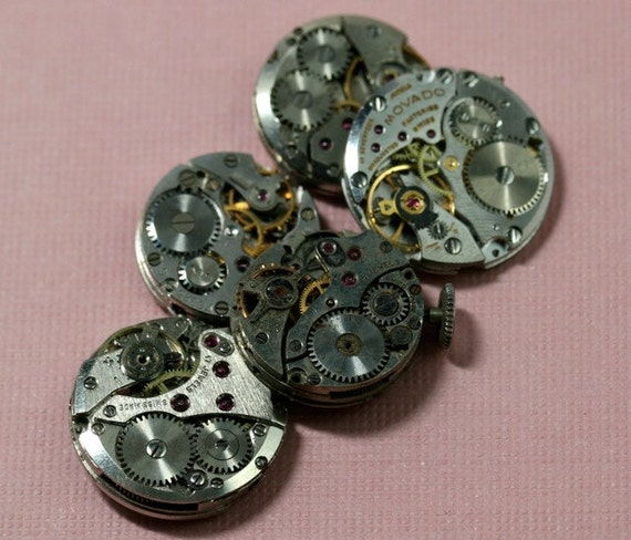 Is Steampunk Jewelry A Craft Or An Art: Items Similar To Small Round Vintage Watch Movements