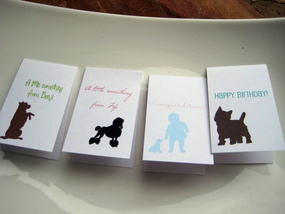 Dog Silhouette Gift Enclosures You Design