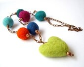 Green Heart necklace