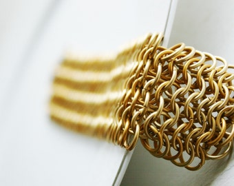 European 6 in 1 Bracelet Double Wide - Chainmaille Bracelet