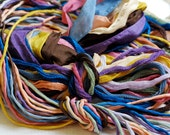 Silk Ribbons: Fall Fashion Color Palette 2011 Hand Painted All Three Styles of Silk Ribbon Knot Bundle of Thirty Silks