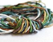 OOAK Set No. 177 Silk Bundle of Ten 2mm Silk Ribbons Random Colors