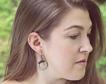 Porcelain Clay - Boho Hoop Earrings - Gifts for Her - Lightweight - Handmade - Porcelain Beads - Made to Order - Marsha Neal Studio