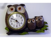 Hold Allison DeMaio Vintage Retro New Haven Owl Plastic Figural Battery Wall Clock Works