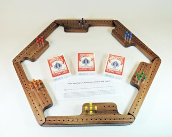 Pegs and Jokers Game Set - Black Walnut