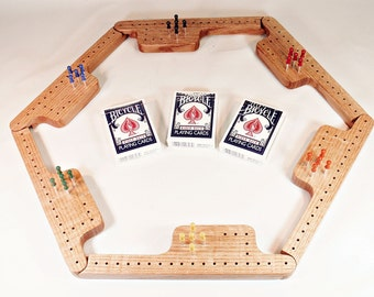Pegs and Jokers Game Set - Quarter-Sawn Red Oak