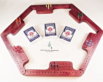 Pegs and Jokers Game Set - Purpleheart