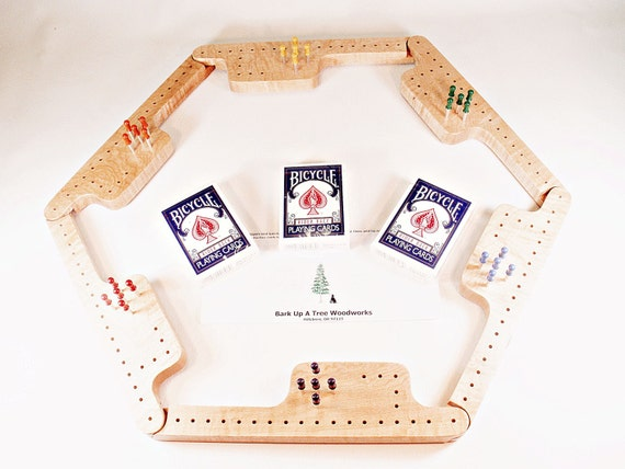 Pegs and Jokers Game Set - Curly Soft Maple