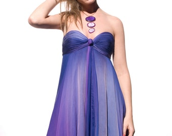 Purple chiffon by Veronica Reis, available in sizes 2-14