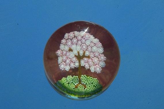 Italian Millefiori Murano Art Glass Paperweight Signed and numbered, g. ferro