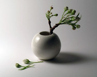 Mini White Porcelain Vase -   SALE