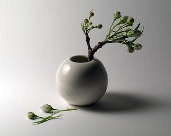 Mini White Porcelain Vase -  SPRING SALE