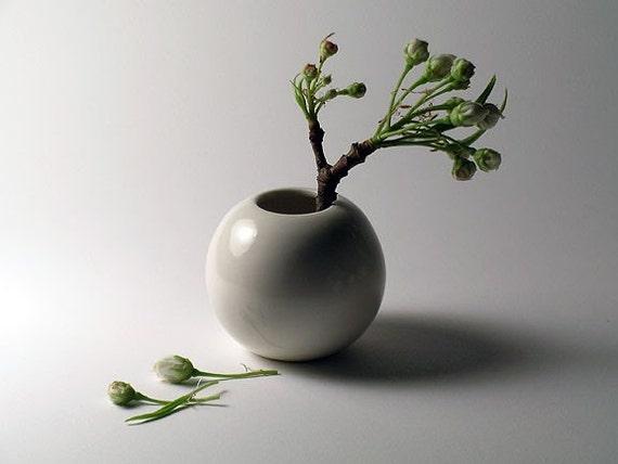 Mini White Porcelain Vase -   SALE