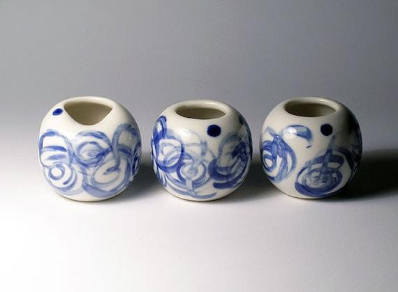 Mini Porcelain Vases - Set of 3 - SALE
