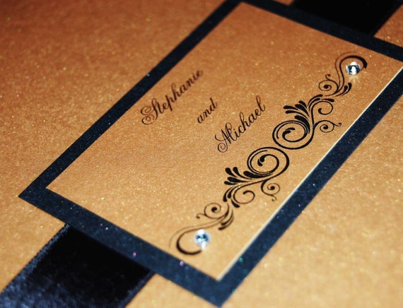 Opulent 6x6 Wallet Style Wedding Invitation