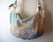 World Map Fabric Handbag