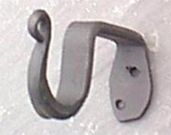 Black Iron Curtain Rod Bracket  sold in pairs holds a 1inch rod wrought iron