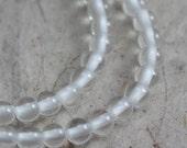 Quartz Crystal Beads 3mm round  - 30 beads