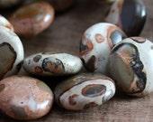 Safari Jasper Beads 14mm Coin - 8 beads