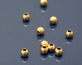 Gold Filled Spacer Beads 2mm Round  - Select Pack Size